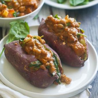 chickpea sweet potoatoes