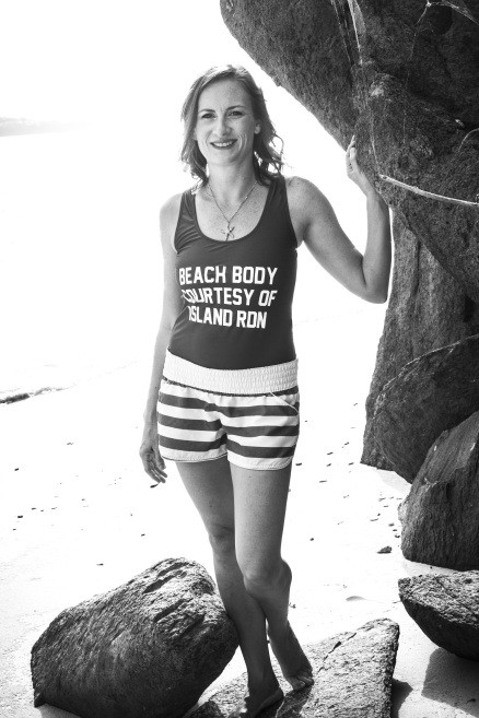 Black and White Beach Body Island RDN Nutrition St Thomas VI